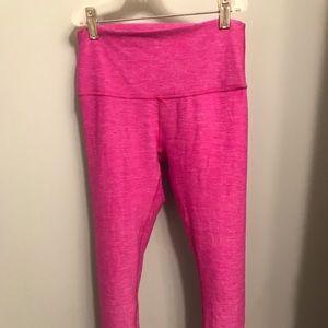 Lululemon 7/8 pink soft leggings